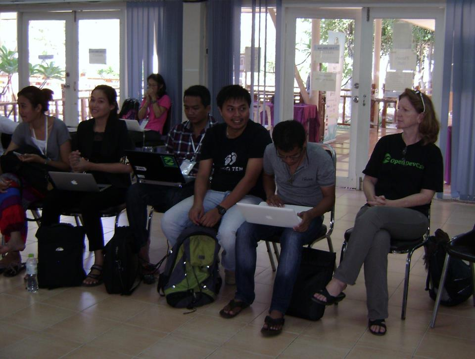ODC's Project Manager Terry Parnell at Mekong ICT Camp_Thailand