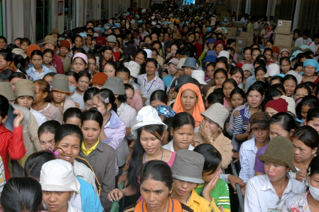 Garment workers on strikes, Cambodia. Photo by ILO in Asia and the Pacific, take on 6 January 2007. Licensed under Attribution-NonCommercial-NoDerivs 3.0 IGO