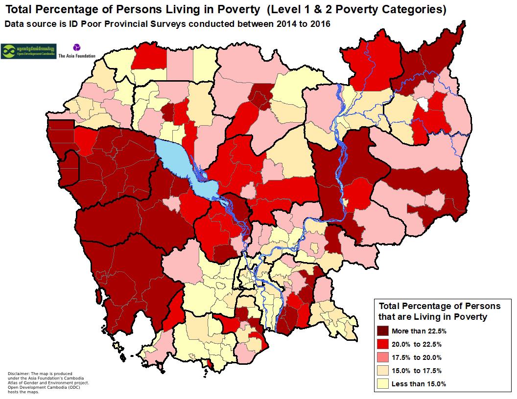 ID Poor - District Population Percentage